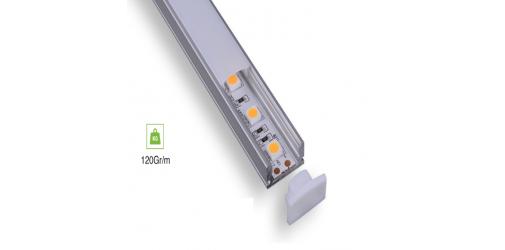 Flat Aluminum Profile 17MMx7M | 2MT