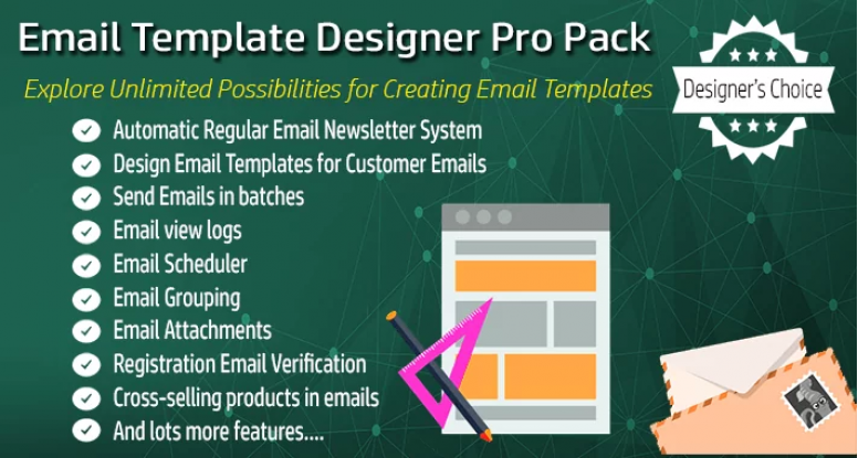 Email Template Designer PRO Pack + Newsletter Scheduler