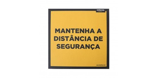 Floor Sign Keep distance 200x200 (5 units) - PECOL
